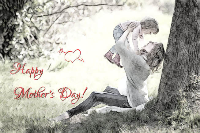 mothers day artwork with text